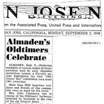 Image of Almaden's Oldtimers Celebrate, 1946