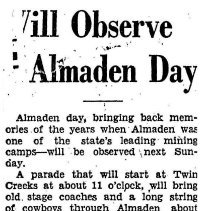 Image of Almaden days 1933