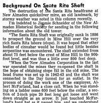 Image of Background on Santa Rita Shaft, 1945