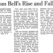 Image of Tom Bell's Rise and Fall, Mammy Pleasant's partner, 1940
