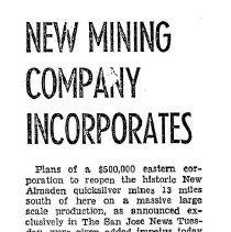 """Image of Incorporation of """"California Quicksilver Company"""", 1940"""
