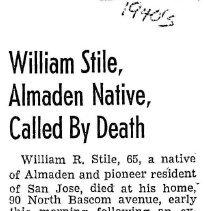 Image of William Stile obituary