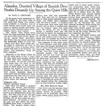 Image of Undated news clipping about Almaden