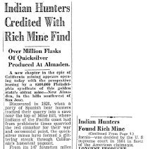 Image of Indian Hunters Credited with Rich Mine Find, 1940