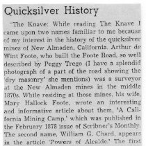 """Image of Quicksilver History written by """"The Knave"""""""