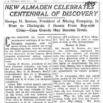 Image of New Almaden celebrates Centennial of Discovery, 1945