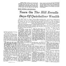 Image of Town on the Hill Recalls Days of Quicksilver Wealth, 1949