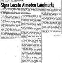 Image of Signs Locate Almaden Landmarks, 1950