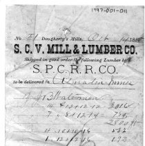 Image of shipping document, 1888