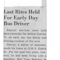 Image of Arthur Cuevas obituary