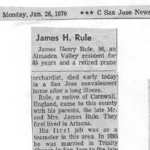 Image of James H. Rule obituary