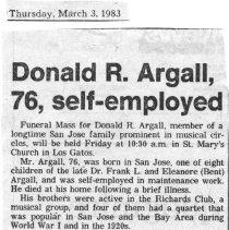 Image of 1997.2.2429 - Obituary
