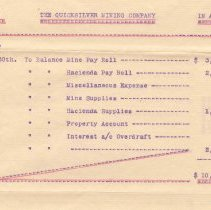 Image of account statement, 1907