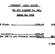 Image of Mercury sales March, 1916