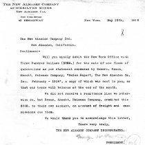 Image of New Almaden Company Incorporated (NY) May 10, 1916