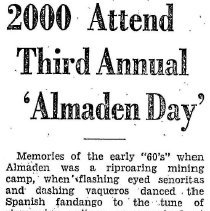 Image of 3rd annual Almaden day, 1933