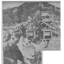 Image of Old Almaden Mine Dump Worked, 1940