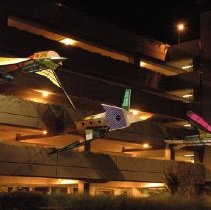 Image of Flying Gardens (Garage Night View #1) - Dennis Oppenheim