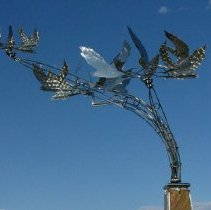 Image of Kinetic Weather Vane (Detail #2) - Owen Gabbert