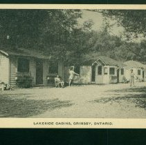 Image of Cabins, Grimsby Postcard