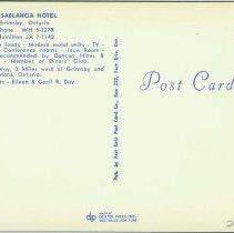 Image of Casablanca Hotel Reverse Side