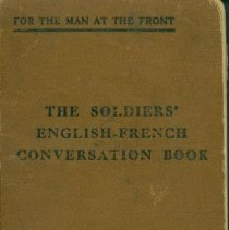 Image of Book, Instruction - The Soldiers' English-French Conversation Book