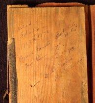 Image of Writing on back of case