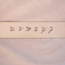 Image of 1989.030.003e - Stencil