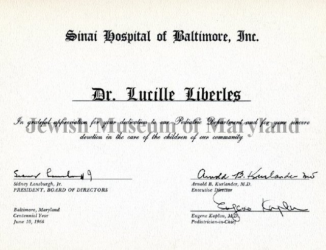1980 029 015 - Lucille Liberles Papers
