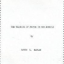 Image of 1996.010.121 - Louis L. Kaplan Papers