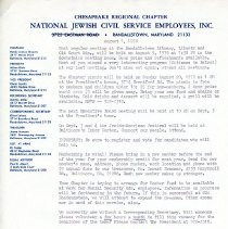 Image of 2000.068.016 - National Jewish Civil Service Employees, Inc. Ches