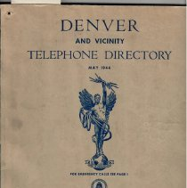 Image of Telephone directory, Dever & Vicinity, May 1944