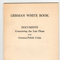 Image of a) German White Book, 1939
