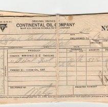 Image of Conoco receipts, 1942