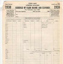 Image of Blank tax return form, 1938