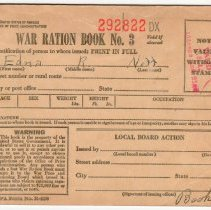 Image of Ration book, Edna R. Neff, 1943