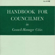 Image of Booklet about governance of cities with Council-Manager governments; 1964
