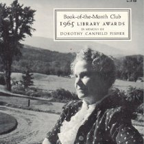 Image of Pamphlet with information about award winners; 1965
