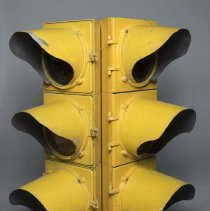 Image of Yellow traffic signal from unknown location in Littleton; c.1960