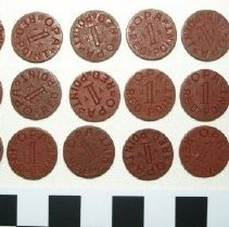 Image of Lot of 18 red ration tokens, OPA; c.1943