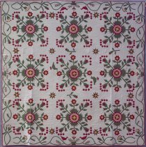 "Image of Quilt, ""Rose in the Wilderness"", made by Mrs. C.R. Rick; 1866"