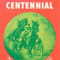 Image of Centennial Racetrack harness racing official program; 1975