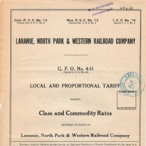 Image of List; Local and Proportional Tariff: Class and Commodity Rates; 1931.