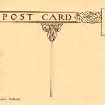 Image of Postcard; back of postcard with floral design; c.1920.
