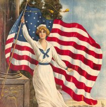 "Image of ""Flag of Freedom"" World War I poster; 1918."