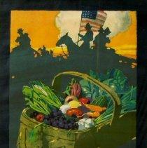 """Image of """"Food is Ammunition"""" World War I poster; 1918."""