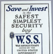 Image of Poster advertising War Savings Stamps during World War I; c.1918.