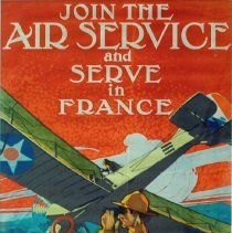 Image of World War I poster advertising joining the Air Service; 1917.