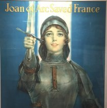 Image of World War I poster showing Joan of Arc, for War Saving Stamps; 1918.