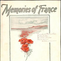 """Image of """"Memories of France"""" by Al Dubin and J. Russel Robinson; 1928."""